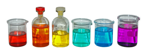 Colored transition metal compounds