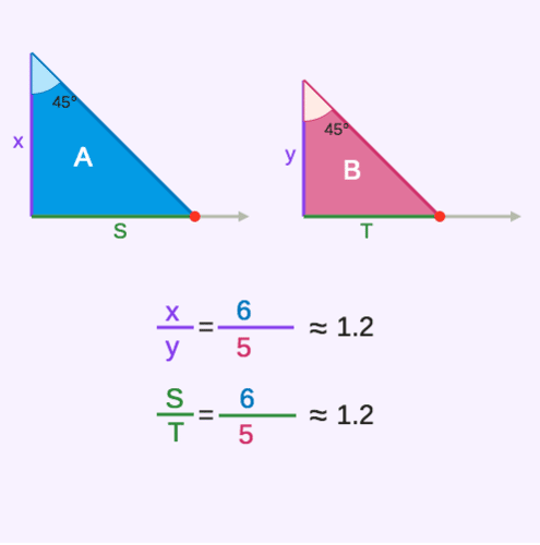 Corresponding Sides of Similar Triangles