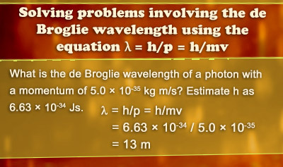 De Broglie Wavelength and Wave Particle Duality - Example 1