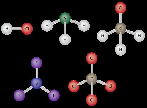 Which Electron Dot Diagram Represents A Polar Molecule | Polarity And Intermolecular Forces Ck 12 Foundation