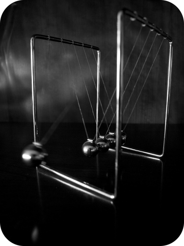 Newton's cradle is an example of nearly elastic collisions