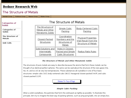 The Structure of Metals