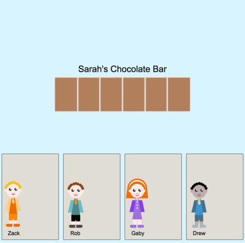 Mixed Numbers in Applications: Sharing a Chocolate Bar