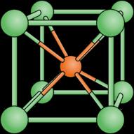 Lattice structure for cesium chloride