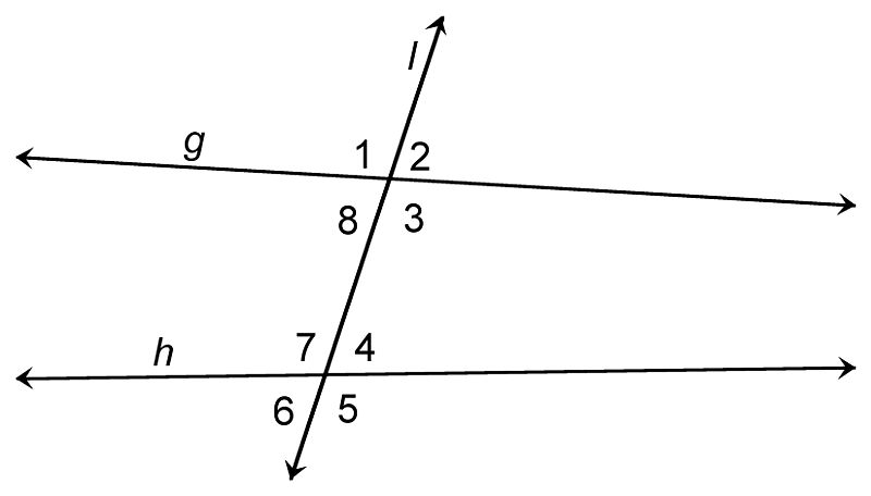 Non-parallel Lines and Transversals: Identifying Angle Pairs, Part 1
