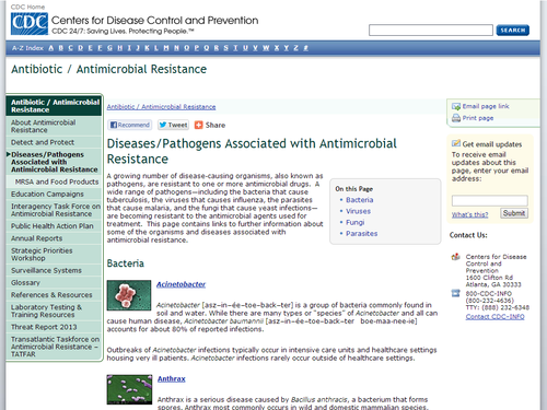 Pathogens Associated with Antimicrobial Resistance