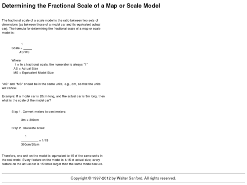 Given Dimensions Use Proportions to Find Scale Ratios