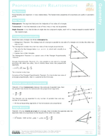 Proportionality Relationships Study Guide