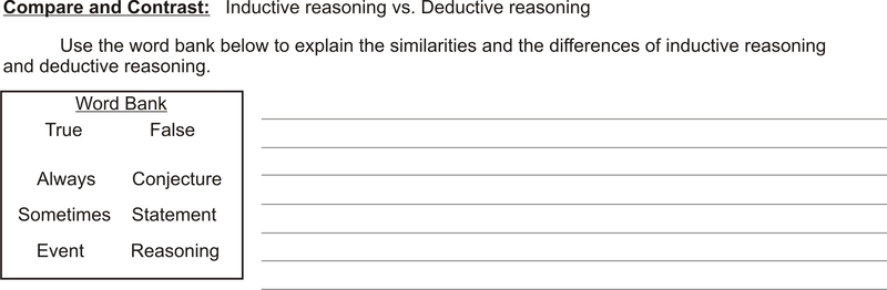 Inductive and Deductive Reasoning – Inductive and Deductive Reasoning Worksheet
