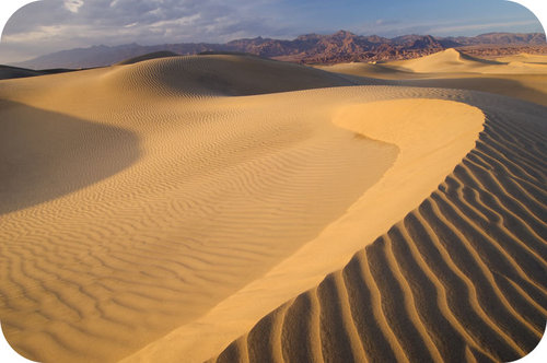 The Mesquite sand dune in Death Valley National Park, California.