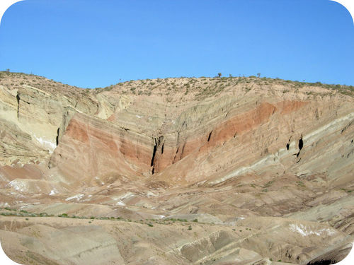 Geologists study folded rock layers to explain what happened over time