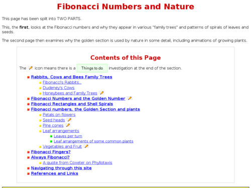 Fibonacci Numbers and Nature