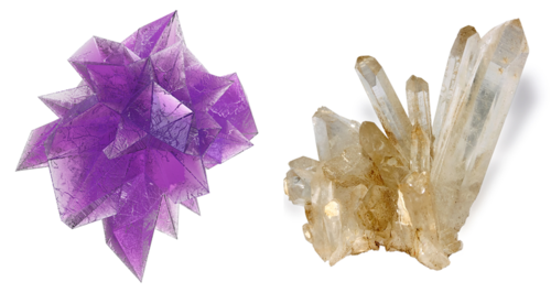 White and purple quartz