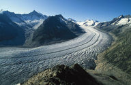 An alpine glacier in the Swiss Alps
