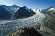 An alpine glacier in the Swiss Alps