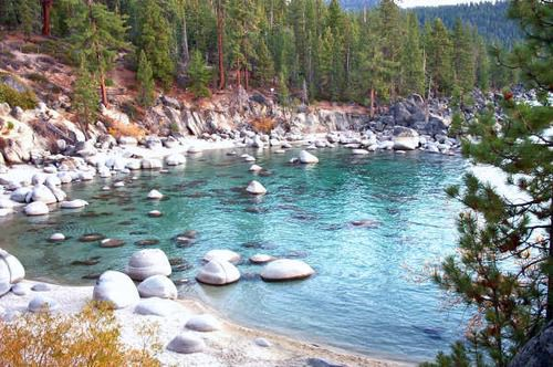 Lake Tahoe in Northern California is a freshwater biome