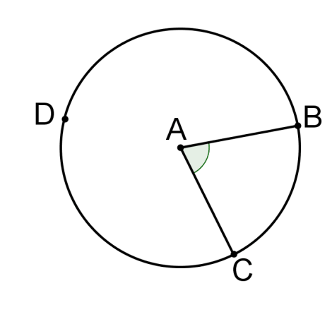 Angle Subtended By An Arc Of A Circle Ck 12 Foundation