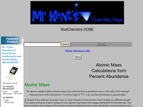 Atomic Mass Calculations Examples