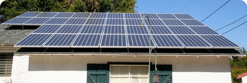 Solar panels can generate enough electricity to power homes