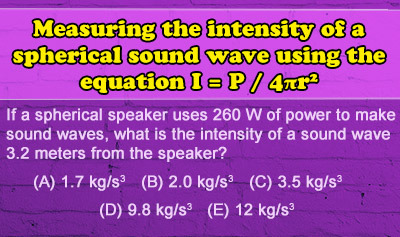 Characteristics of Sound Waves - Example 3