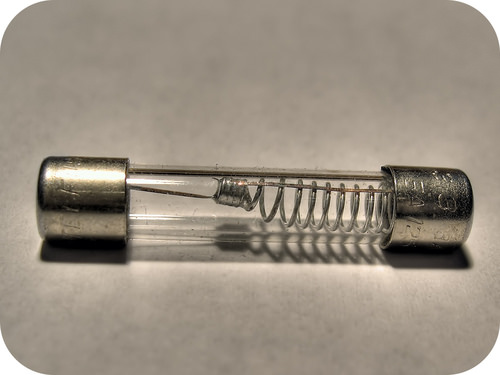 Close-up image of an electrical fuse