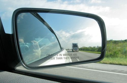 Car mirrors are convex mirrors