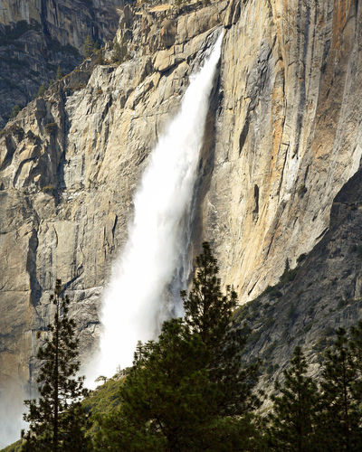 Yosemite Valley is known for waterfalls that plunge from hanging valleys