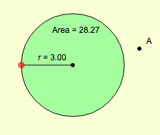 Domain and Range: Restricted Circle Radius and Area