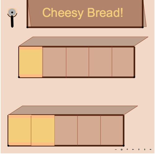 Cheesy Bread: Sums of Fractions with Like Denominators