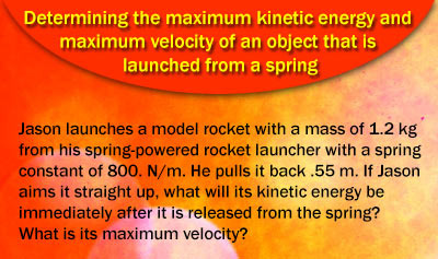Conservation of Mechanical Energy for Objects that are Launched from Springs - Example 5