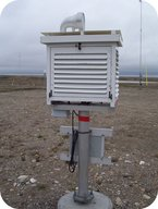 A land-based weather station