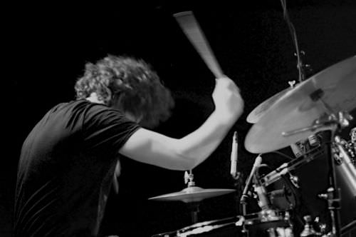 Drummers generate mechanical energy to hit drums and cymbals
