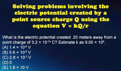 Electrical Potential - Example 2