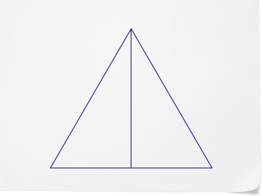 Puedes decir a partir del diagrama que el tri 225 ngulo original era