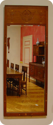 Mirror images give different perspectives of a room, like resonance