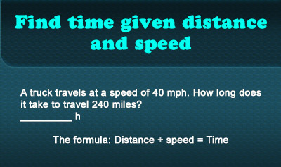 Calculating Distance, Rate, and Time - Example 3