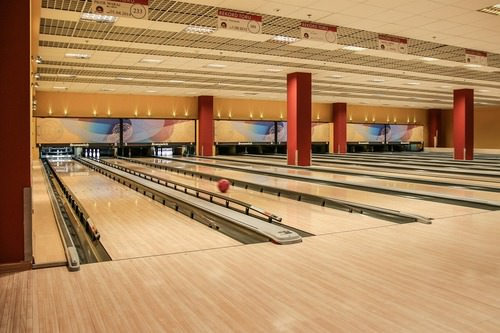 Bowling balls have kinetic energy