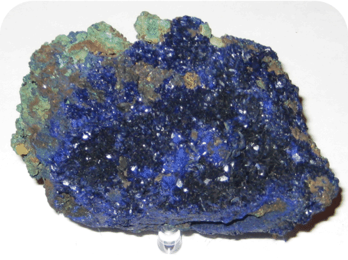 An example of a monoclinic crystal is azurite