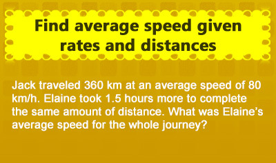 Find Average Speed - Example 2
