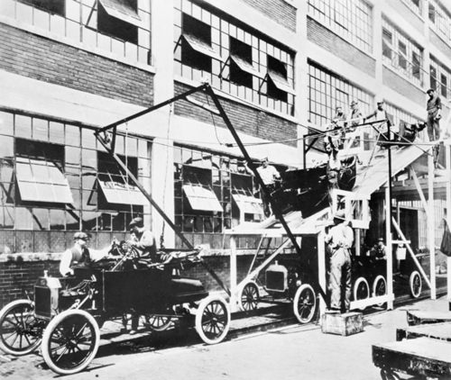 Part of a Ford assembly line.