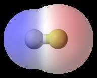 Electron density in hydrogen fluoride