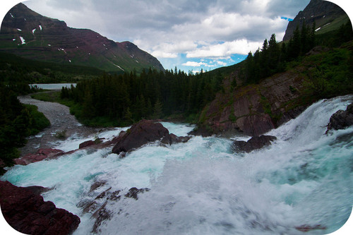 Rapid stream in Glacier National Park