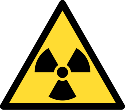Symbol for the presence of radioactive materials