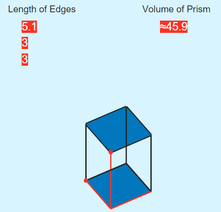 Area of a Rectangular Prism