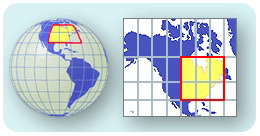 A map projection translates Earth's curved surface onto two dimensions
