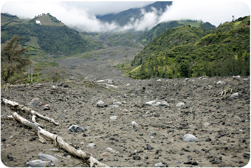 A lahar is a mudflow that forms from volcanic ash and debris