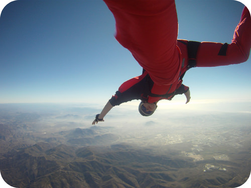 Skydiving adds stress like LeChatelier's principle