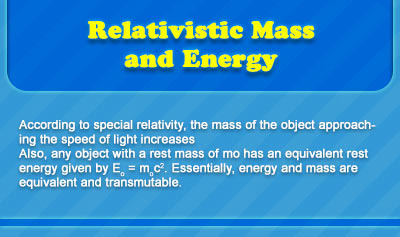 Relativistic Mass and Energy - Overview