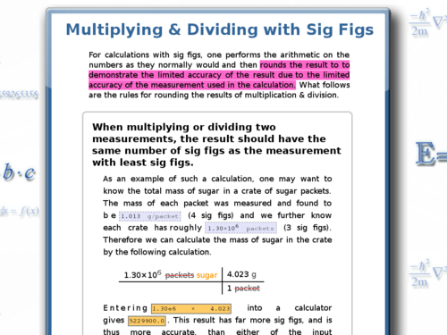 Multiplying and Dividing with Significant Figures