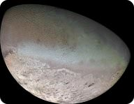 Picture of Triton, Neptune's largest moon